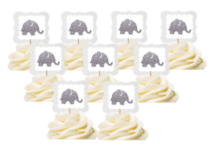 12pk Elephant  Food / Cake / Cupake Decoration Toppers  NEW