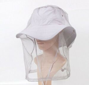 Outdoors Head Mosquito Bug Insect Bee Mesh Head Net Protect Hat For Fishing