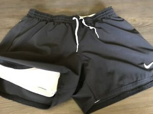 Nike Dri Fit Running Shorts Extended Spandex Lining Women's Small Solid Black