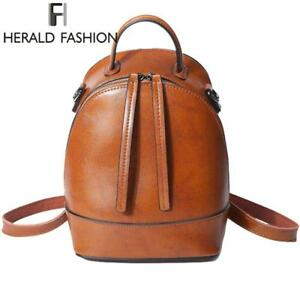 Fashion Backpacks for Women Leather Genuine