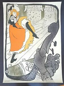 Toulouse-LautrecJane Avril lithographic poster mid-cent Mourlot print INV 2754