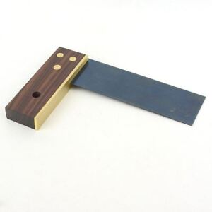 6 Inch Brass and Rosewood Try Square Wood Woodworking Tri Trysquare $39.99
