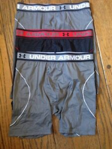 5 Men's Under Armour BoxerJock Briefs Small ISO-CHILL 6 & 9 Inch 1277276