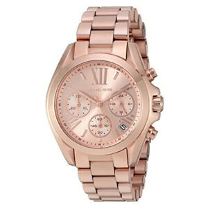 100% New Michael Kors MK5799 Mini Bradshaw Rose Gold-Tone Bracelet Women's Watch