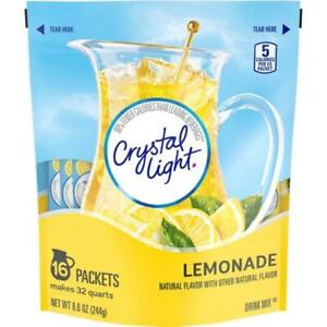 Crystal Light Natural Lemonade 16 Pitcher Packs Makes 32 Quarts
