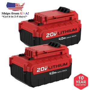 For PORTER CABLE PCC685L 20V MAX Lithium PCC680L 4.0Amp Hour 2Pack Drill Battery $38.99