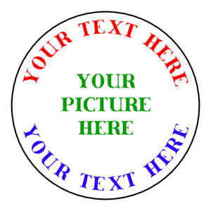 Personalized YOUR PICTURE YOUR TEXT Stickers Labels Tags VARIETY OF SIZES $6.49