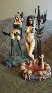 HEAVY METAL quot;The Guardianquot; and quot;Into the Fogquot; STATUES $700.00