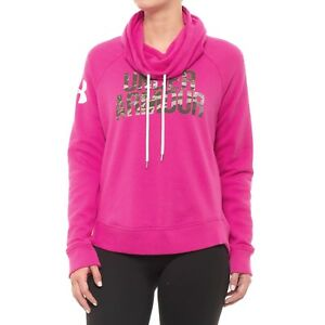 Under Armour Favorite Graphic Camo Logo Pullover Hoodie Womens Pink size M $35.99
