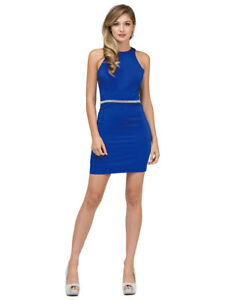 Royal Blue Short Cocktail Prom Homecoming Formal Dress Size Medium 8!