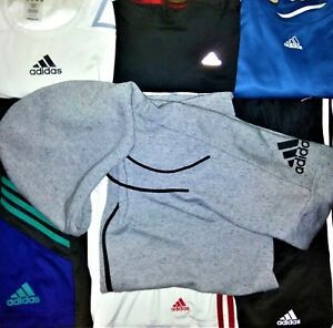 ADIDAS SOCCER LOT OF 7: MENS SIZE MLXL CLIMACOOL HOODIE-3 PRS. SHORTS-3 SHIRTS
