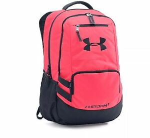 NWT Under Armour UA Storm Hustle II Backpack PINK CHROMA Laptop WATER REPELLENT