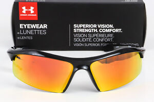 New Under Armour Zone Sunglasses Black frame  Orange Multiflection Mirror lens
