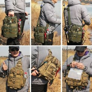 Outdoor Multi-functional Water-Resistant Fishing Tackle Bag By BLISSWILL