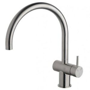 Sussex SCALA CURVED LARGE SINK MIXER Right Hand WELS 4 Star Stainless Steel