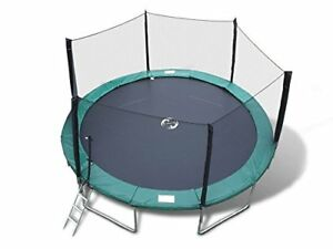 15 FT Round Trampoline with Safety Enclosure Ladder and Lifetime Warranty
