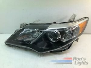 2012 2014 Toyota Camry Headlight OEM LH Driver BLACK Pre owned $59.99