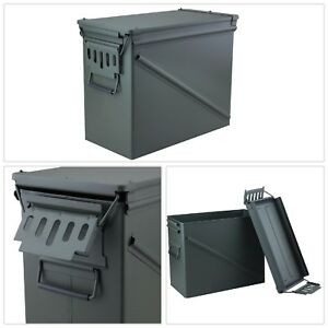Ammo Storage Box OD Green Durable Steel Airtight Gasket Seal Water Resistant New