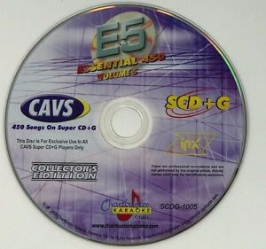 CHARTBUSTER KARAOKE ESSENTIAL 450 VOL 5 ES450 COLLECTOR'S EDITION SUPER CD+G E5
