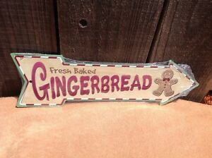 Gingerbread Cookies This Way To Arrow Sign Directional Novelty Metal 17quot; x 5quot;