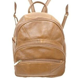 Leather Backpack Purse Mid Size Convertible into single strap sling Bag or Bac