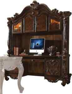Acme Versailles Computer Deskand Hutch in Cherry Oak Finish 92284