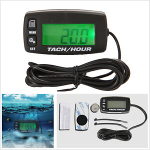Motorcycle Backlight Digital Inductive Tach Hour Meter For 2 4 Stroke Gas Engine $27.89