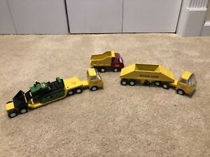 Vintage 1960s TINY TONKA Pressed Steel Toy 4 Pc CONSTRUCTION SET