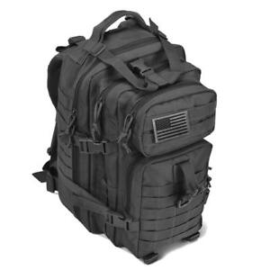 Military Assault Backpack US Marines Black Molle Tactical Med Army Hunting NEW
