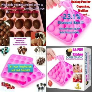 20 Balls Silicone Tray Mold for Chocolate Muffins Baking Fondant Cakes and Candy