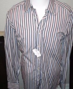 $565 Kiton Dress Sport Shirt 100% Cotton hand made in Italy