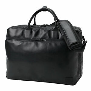 NEW Yoshida Bag PORTER  PORTER TIME BLACK 3WAY BRIEF CASE 146-16100 Black FS