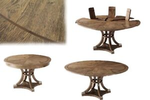 Round Expanding Jupe Table. Blonde Rustic Oak Finish Seats 4 to 7