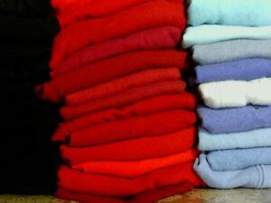 100% Cashmere Sweater Craft Cutter Lot of 12 Multi-color FELTED Wool Fabric