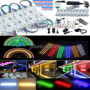 US 10FT 5050 SMD 3 LED Module STORE FRONT Window Sign Light Lamp RemotePower