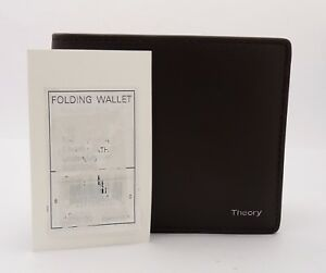 Theory Folding Wallet With Insert T Moro Linden Leather Men's - FREE SHIPPING