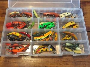 Huge Lot Of Flat Fish Lures & Storage Tackle Case