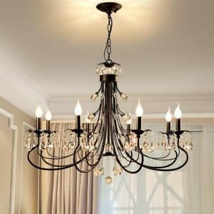 Pendant Lamp American Crystal Candle Nordic Iron Lighting Home Decors Fixtures