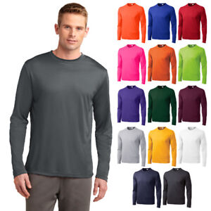Sport-Tek TALL Long Sleeve T-Shirt Dry Fit Moisture Dri Wicking Tee TST350LS