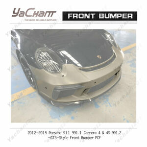 Carbon&FRP Bar For 12-15 911 991.1 Carrera &S &4 &4S 991.2-GT3-Type Front Bumper
