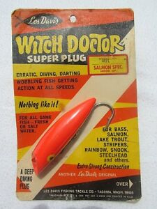 LES DAVIS Witch Doctor Super Plug Model 4RFL Salmon Fishing Lure *Hard to Find*