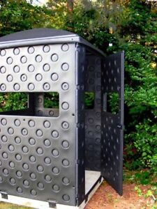Deer Hunting Blind Elevated Ground Stand Double Wall Panels 4 Hard Sided Rugged