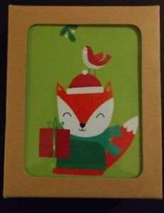 The Gift Wrap Company Fox Recycled Christmas Card $4.95