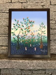 Original Oil Painting signed by P Pierre '90 Framed   22.5X27