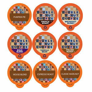 Double Donut Coffee Variety Pack Sampler for Keurig K cup Brewers 40 Count