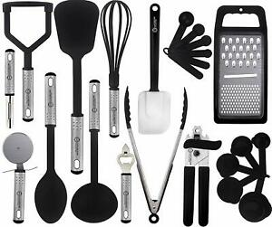 Cooking Kitchen Utensils Set Stainless Steel 23 Piece Heat Resistant Utensils $14.99