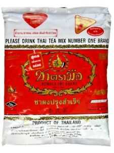 Thai Tea Mix Number One Brand Cha Tra Mue Original Red Label Hot