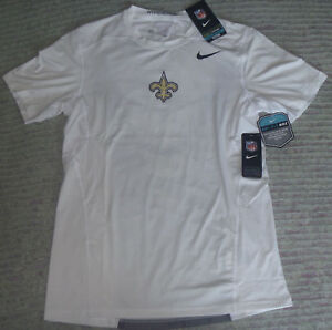 AUTHENTIC Nike NEW ORLEANS SAINTS Fitted HYPERCOOL Dry Fit Vented JerseyShirt M