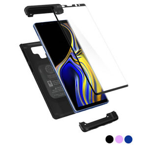 Galaxy Note 9 Case Spigen® [Thin Fit 360] Protective Cover+Tempered Glass Screen