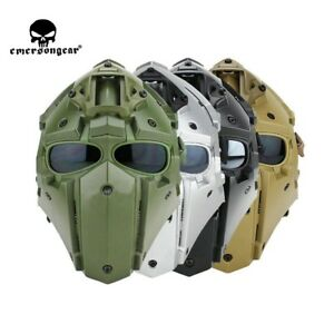 Tactical Helmet CF Game Full Face Goggle Mask Airsoft Hunting Protective 5 Lens